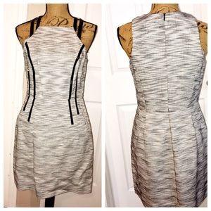 I ❤️RONSON Shift Dress Grey/Black  Sz 8 EUC
